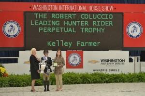 Kelley Farmer in the presentation for Leading Hunter Rider