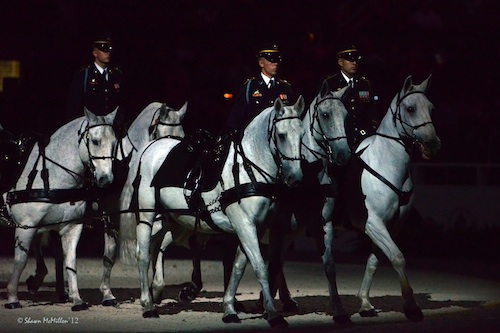 The U.S. Army's Caisson Platoon will give an exhibition on Military Night. Photo © Shawn McMillen Photography.