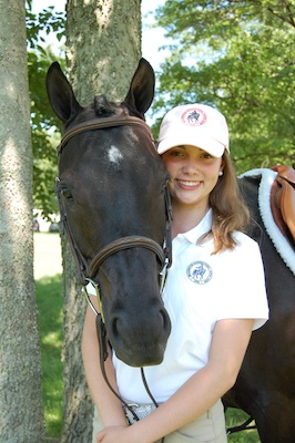 Hanna Powers 2012 WIHS Youth Ambassador with her pony, Raven lo