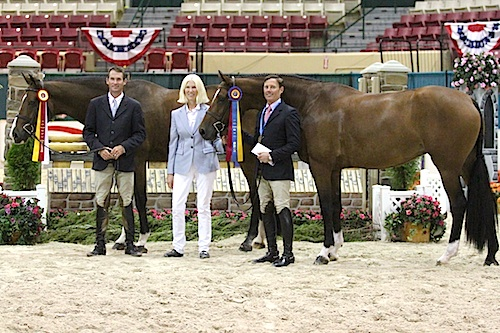 Hunt Tosh and Lonestar, Dr. Betsee Parker, and Scott Stewart with Everly. Photo copyright Jennifer Wood Media, Inc.