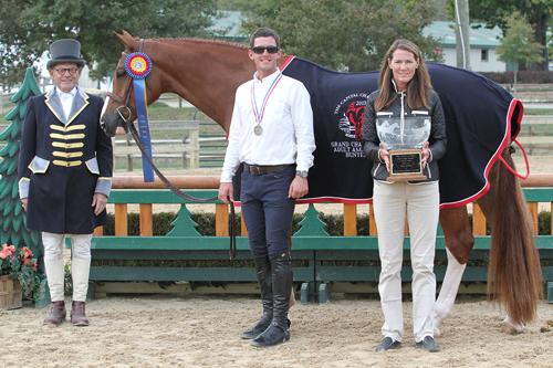 Sutton Place with trainer Brady Mitchell. Photo copyright Jennifer Wood Media, Inc.