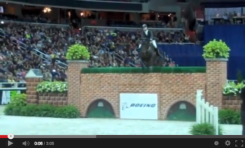 Watch an interview and the winning round of Puissance winner Tim Gredley!