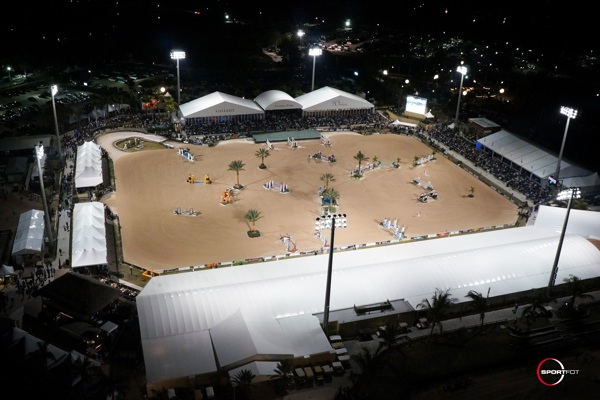 The International Arena hosts top competition for the FTI Consulting Winter Equestrian Festival at the Palm Beach International Equestrian Center. Photo © Sportfot.