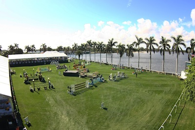 A scenic setting for show jumping on the Intracoastal Waterway. Photo © Sportfot.