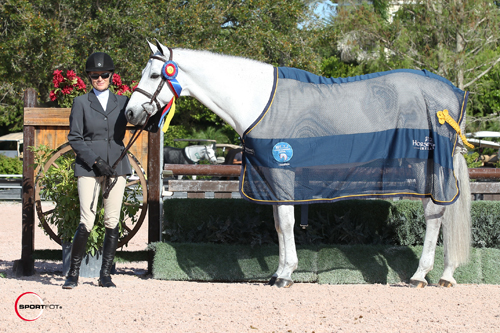 Julie Coles and Cobalt in their championship presentation