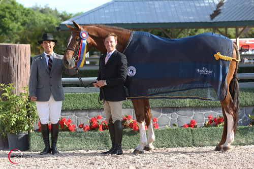 Scott Stewart and Golden Rule in their championship presentation with ringmaster Gustavo Murcia