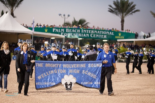 The Wellington High School Marching Band performed during FTI WEF 8. Photo © Lexey Hall.