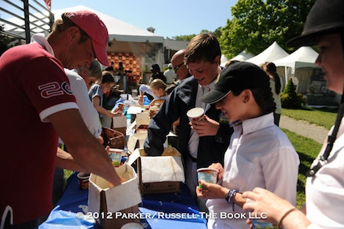 The ice cream socials are a big hit every year at Old Salem Farm Spring Horse Shows.