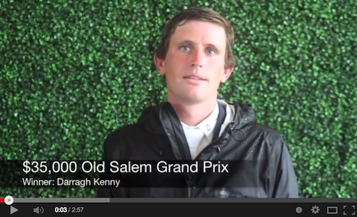 Watch an interview with Darragh Kenny about his win with Sans Souci Z.