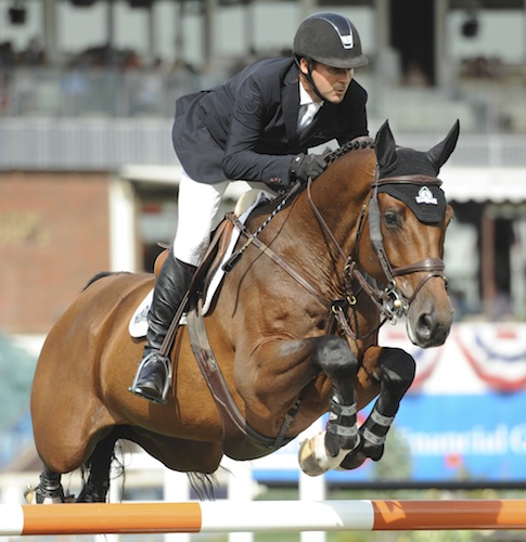 Eric Lamaze and Powerplay during the  CANA Cup at the Spruce Meadows masters 2013. Photo © Spruce Meadows Media Services.