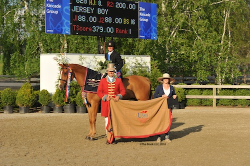 Jennifer Alfano and Jersey Boy in their winning presentation.