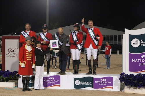 There are three Furusiyya FEI Nations Cup Qualifiers in North America; Canada won the first in Wellington, FL, this year. North Salem hopes to host the Finals in 2015. Photo © Lexey Hall.