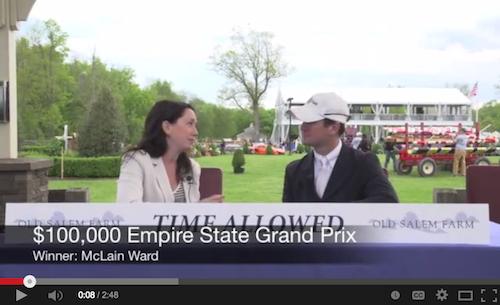 Watch an interview with grand prix winner McLain Ward!
