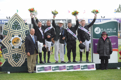 The winning Irish team in last year's Furusiyya FEI Nations Cup™. Photo © Spruce Meadows Media Services.