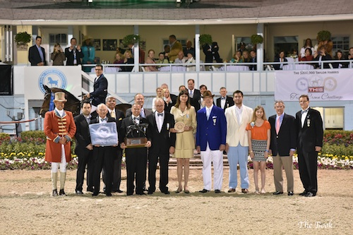 Paul O'Shea and Primo de Revel in their winning presentation. The Book LLC