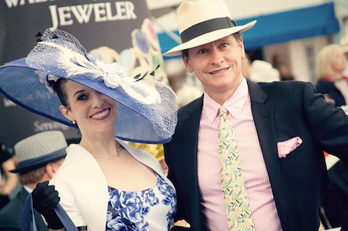 Tiffany Arey and Carson Kressley Best Devon Show hat. Brenda Carpenter Photo