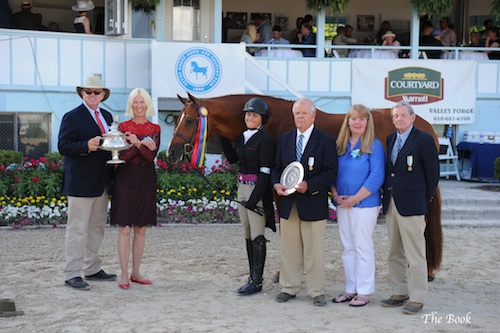 Victoria Colvin and Way Cool in their Grand Junior Hunter Presentation. The Book LLC