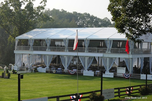The double decker VIP tent still has tables available for the Old Salem Spring Horse Shows.