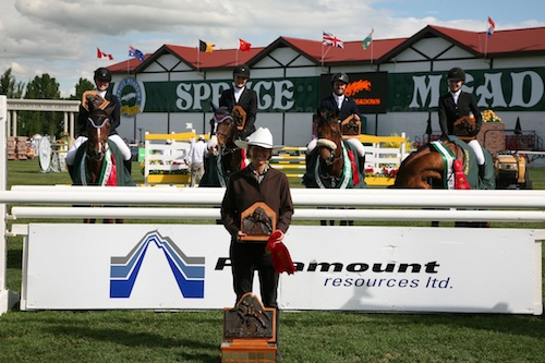 "The ""Queen Beez"" team won the $7,500 Paramount Resources Prix des Nations 1.30m."