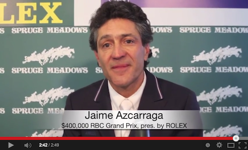 Watch an interview with Jaime Azcarraga!