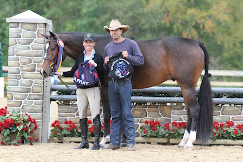 Kaepernick and Debbie Perkins were champion in the Future Hunter Colt division in 2013. Photo by Jennifer Wood Media, Inc.