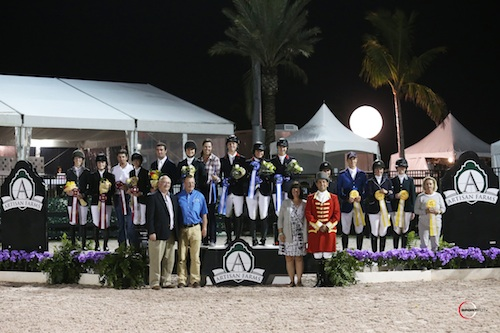 The presentation to the top three teams. Photo © Sportfot.
