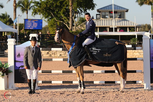 Conor Swail and Simba de la Roque in their winning presentation