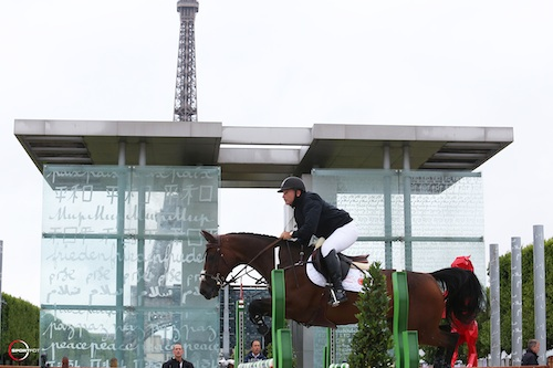 Gustavo Mirabal and G&C Lucy compete in Paris. Photo copyright Sportfot.