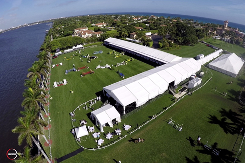 A beautiful arial photo of The Mar-a-Lago Club during Sunday's Grand Prix