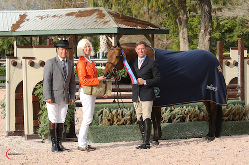Scott Stewart and A Million Reasons in their championship presentation with Dr. Betsee Parker
