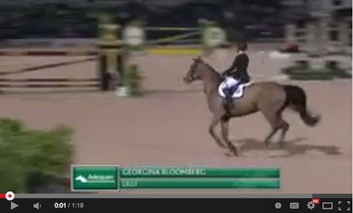 Watch Georgina Bloomberg and Lilli in their winning round! http://youtu.be/V6DiX10GN2k