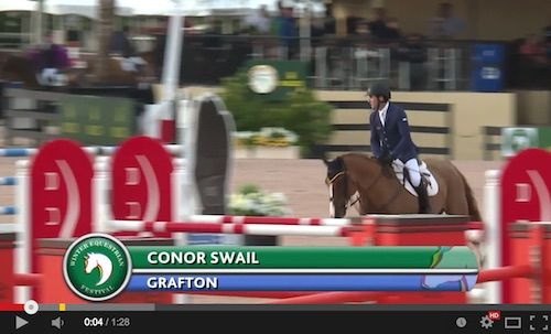 Watch Conor Swail and Grafton in their jump-off round! http://youtu.be/pCYclY_SOlU