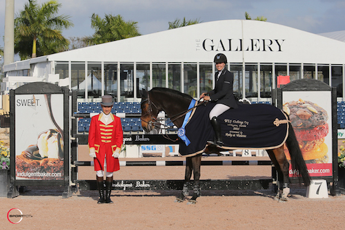 Brianne Goutal and Ballade van het Indihof in their winning presentation
