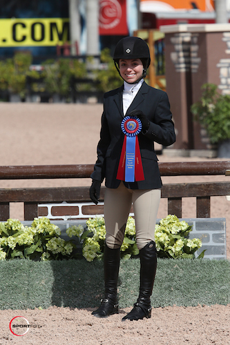 Kate Eagleton with her blue ribbon