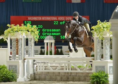 Current leader in the WIHS Hunter standings, Mary Grossman and Benvolio finished 4th in the $10,000 Adult Hunter Championship in 2014. Photo © Shawn McMillen Photography.
