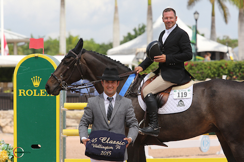 Eric Lamaze in his winning presentation with ringmaster Gustavo Murcia  (Zigali PS standing in for Rosana du Park)