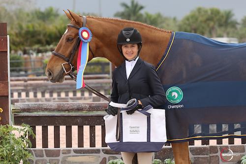 McKayla Langmeier and Castelli in their championship presentation
