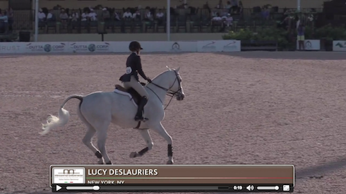 Watch Lucy Deslauriers and Class Action in their first round!