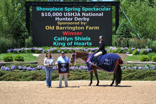 Caitlyn Shiels and King of Hearts in their winning presentation