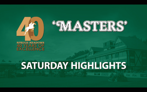 Watch highlights from Saturday's competition at the 'Masters'
