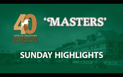Watch highlights from Sunday's incredible competition to conclude the Spruce Meadows 'Masters'