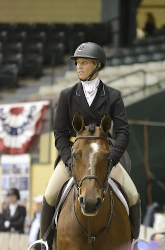 Caitlyn Shiels and Granted Wish competed in the WCHR Developing Pro Challenge at the 2015 Capital Challenge Horse Show. Photo copyright The Plaid Horse.
