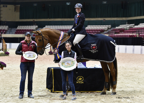 Devan Graham and Sandro Sky in their winning presentation. Photo copyright Shawn McMillen Photography.