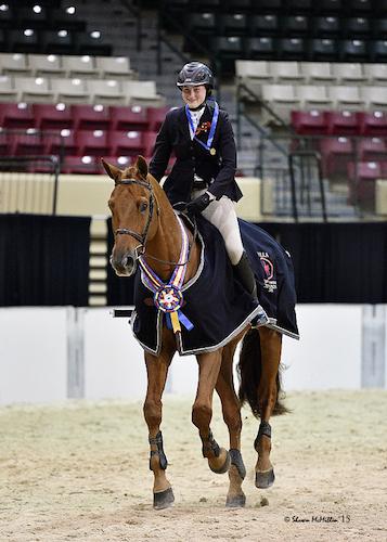 Devan Graham and Sandro Sky won the 2015 MHSA Gittings Horsemanship Finals. Photo copyright Shawn McMillen Photography.