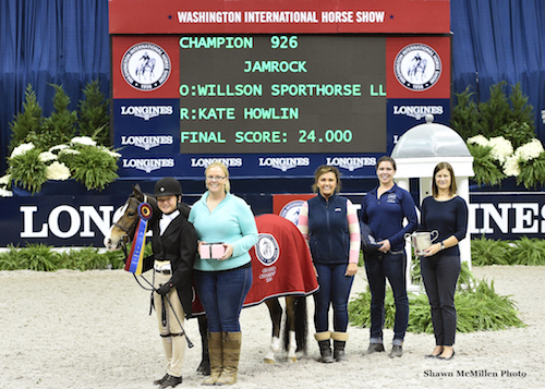 Kate Howling and Jamrock in their championship presentation for WIHS Regional Pony Hunters