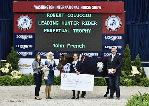 John French in his presentation for Leading Hunter Rider with WIHS Executive Director Bridget Love Meehan, Dr. Betsee Parker, and Archie Cox