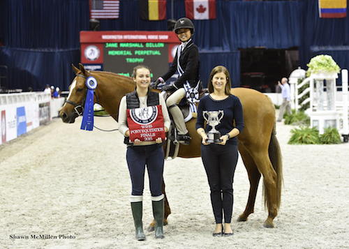 Mimi Gochman and Storyteller in their winning presentation for the 2015 WIHS Pony Equitation Finals