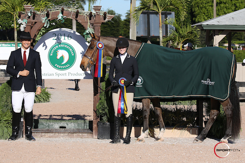 Stella Styslinger and O'Ryan in their champion presentation.