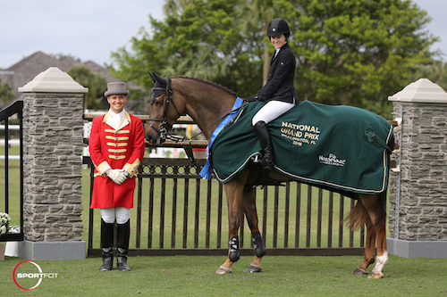 Katie Dinan and Dougie Douglas in their winning presentation with ringmaster Christian Craig.