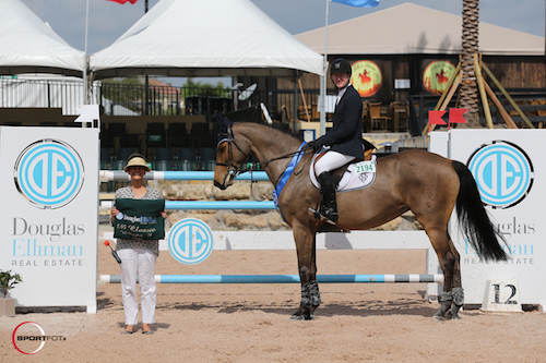 McLain Ward in his winning presentation (HH Best Buy standing in for HH Carlos Z) with  Abby Jones.